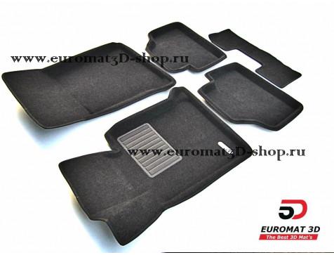Текстильные 3D коврики Euromat3D Business в салон для Bmw 1 (E87) (2007-2011) № EMC3D-001200