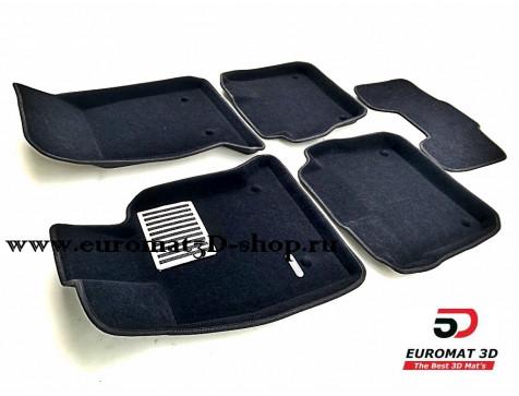 Текстильные 3D коврики Euromat3D Lux в салон для Cadillac CT6 (2018-) № EM3D-001300