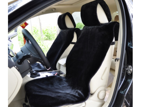 Накидка на сиденья автомобиля из искусcтвенного меха Euromat|Tex (черная) № EUSH-004000