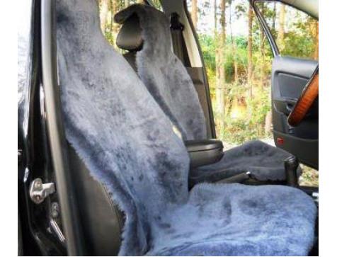 Накидка на сиденья автомобиля из искусственного меха Euromat|Tex (серая) № EUSH-004002